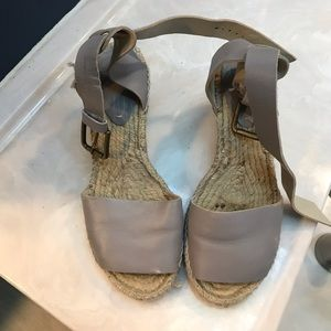 Soludos - Grey Espadrille Sandals - Size 7